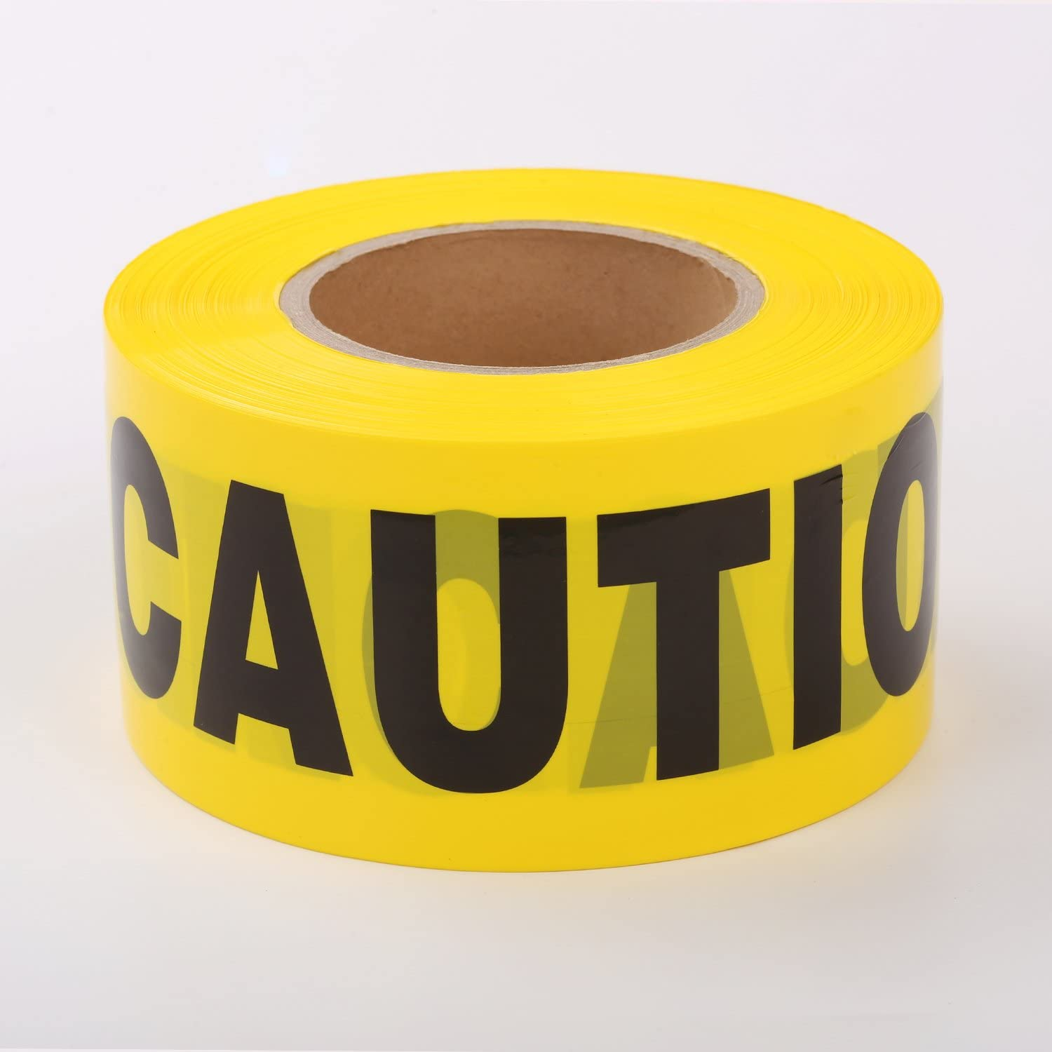TopSoon CAUTION Tape Roll 3-Inch Wide x 1000-Feet Long Bright Yellow Barrier Tape Warning Tape Construction Tape