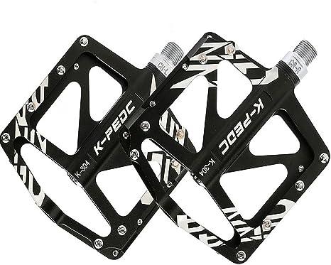 VXM Pedal para bicicleta/aleación de aluminio para bicicleta de montaña bicicleta de carretera pedales rodamientos sellados pedales BMX ciclismo ultraligero Pedal, negro: Amazon.es: Deportes y aire libre