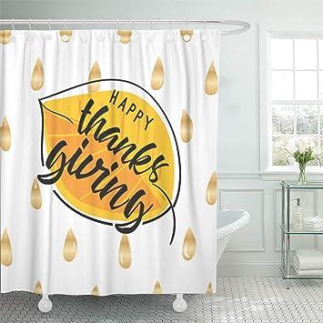 Amazon Emvency Bathroom 72x78 Shower Curtain Set Autumn