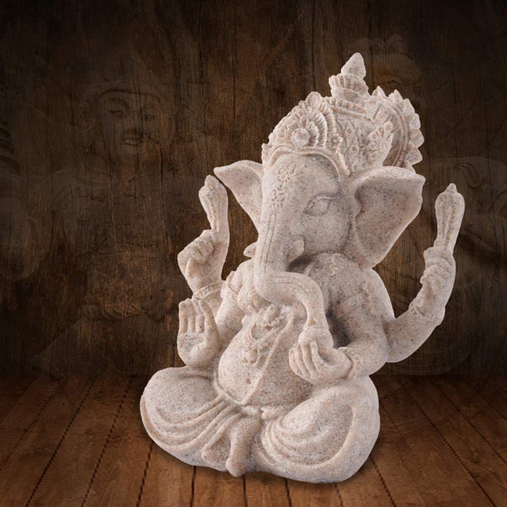 Zuhause Multi Caf/é Homofying Elefantenfigur Skulptur Ganesha Sandstein Kunstharz Ornament Home Decor Geschenk Skulptur Ornament f/ür die Sammlung f/ür Hotel Shop B/üro