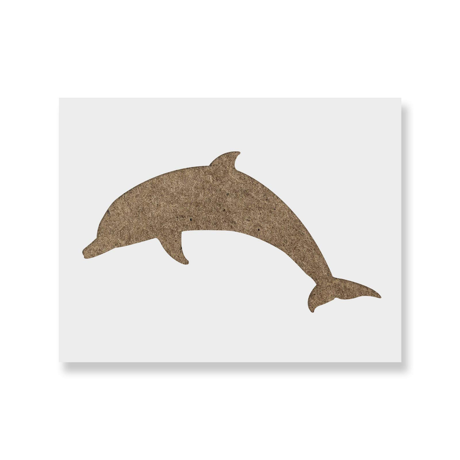 Dolphin Stencil Template - Reusable Stencil with Multiple Sizes Available