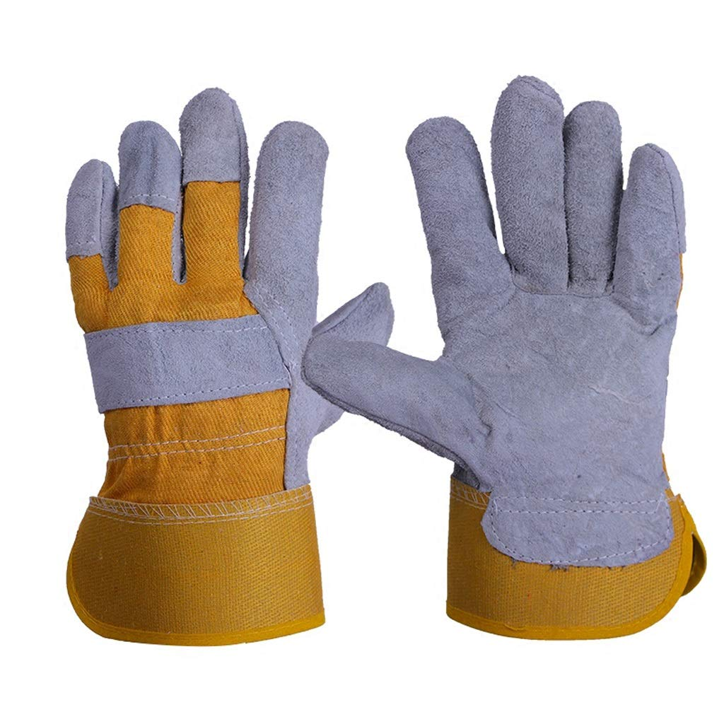 AINIYF Guanti per cucire a temperatura elevata Guanti lunghi da lavoro Guanti da lavoro, barbecue da giardino Saldatori Guanti da lavoro (dimensioni   5 pairs)