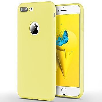 SpiritSun Funda iPhone 7 Plus, Soft Carcasa Funda Diseño Mate Opaco Ultrafina TPU Bumper Suave Silicona Piel Carcasa Ultra Delgado y Ligero Goma ...