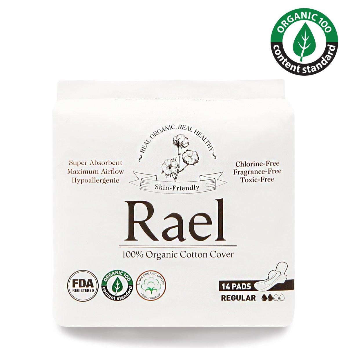 Serviettes hygié niques Rael en coton bio ultra-mince avec ailes RAEL-RG-04-V