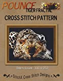 Pounce Tiger Fractal Cross Stitch Pattern, Tracy Warrington, 148010678X