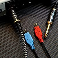 ASEN 6.3mm 1/4 Sennheiser HD25/580/600/650 Headphone Replacement Upgrade Cable [1.3M]