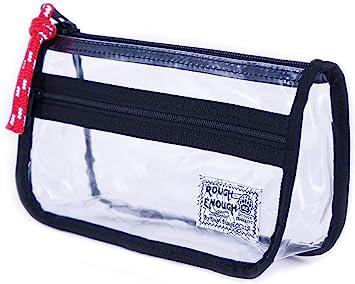 School Exam Pencil Pen Case Bag Pouch Plastic Clear See Through Value x 12
