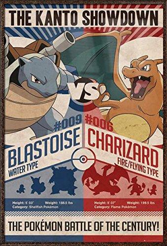 Pokemon - Framed Gaming / TV Show Poster / Print The Kanto Showdown -