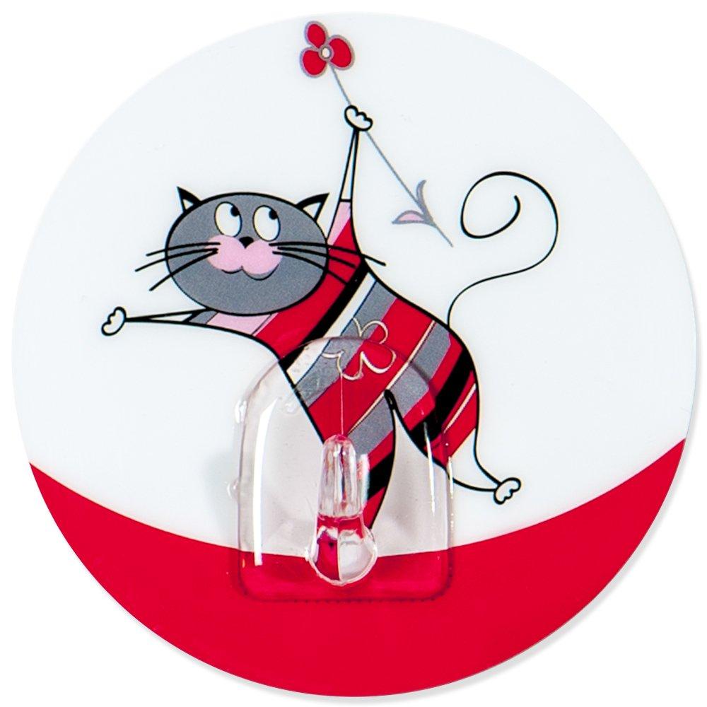 Tatkraft Funny Cats Chucho Gancho Adhesivo para Baño y Cocina d 8cm Others