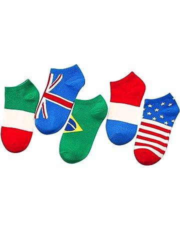FENICAL Calcetines de los Hombres Calcetines de la Bandera Calcetines Transpirables antifricción Otoño Verano Calcetines Adultos