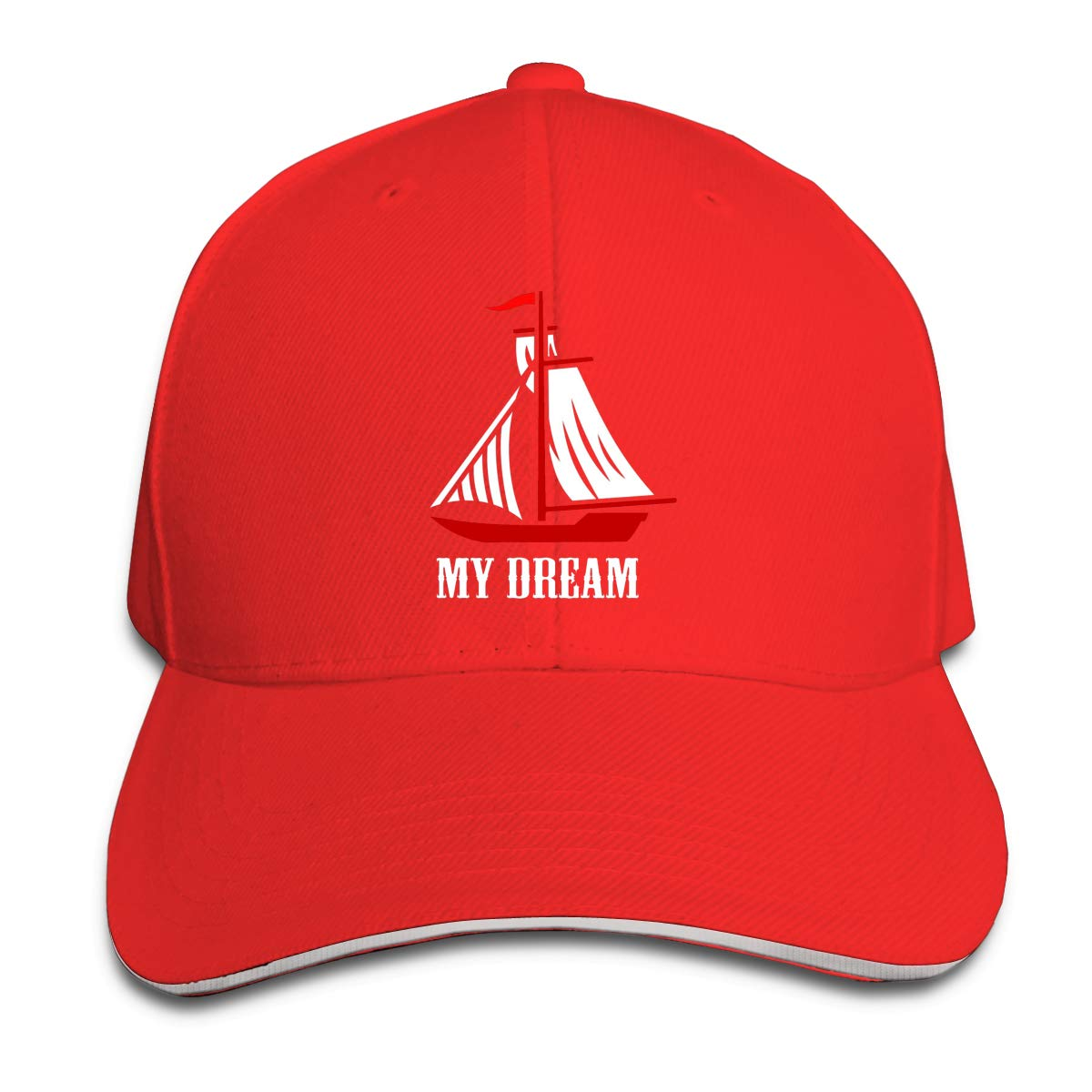 My Dream Sailing Unisex Adult Baseball Caps Adjustable Sandwich Caps Jeans Caps Adjustable Denim Trucker Cap