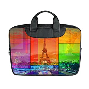 INSTALL AND EASY TO CARRY Wear& Slim &Dapper Paris Custom Waterproof Nylon Bag for Laptop 10 Inches(Twin sides)