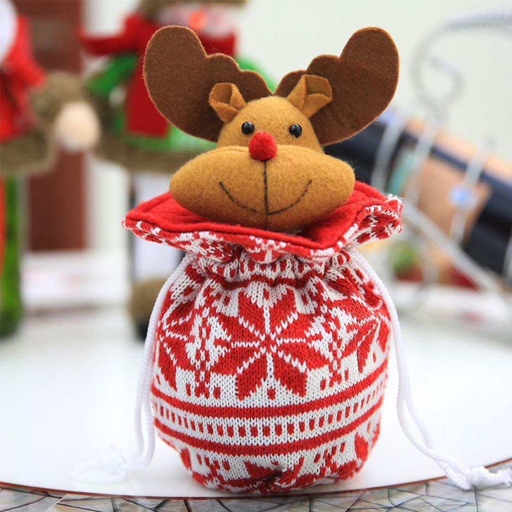 YaptheS Christmas Apple Bag Cute Elk Doll Knitted Candy Cookie Bag Pendant Kids Xmas Gift Party Decoration Christmas Gift by YaptheS (Image #2)