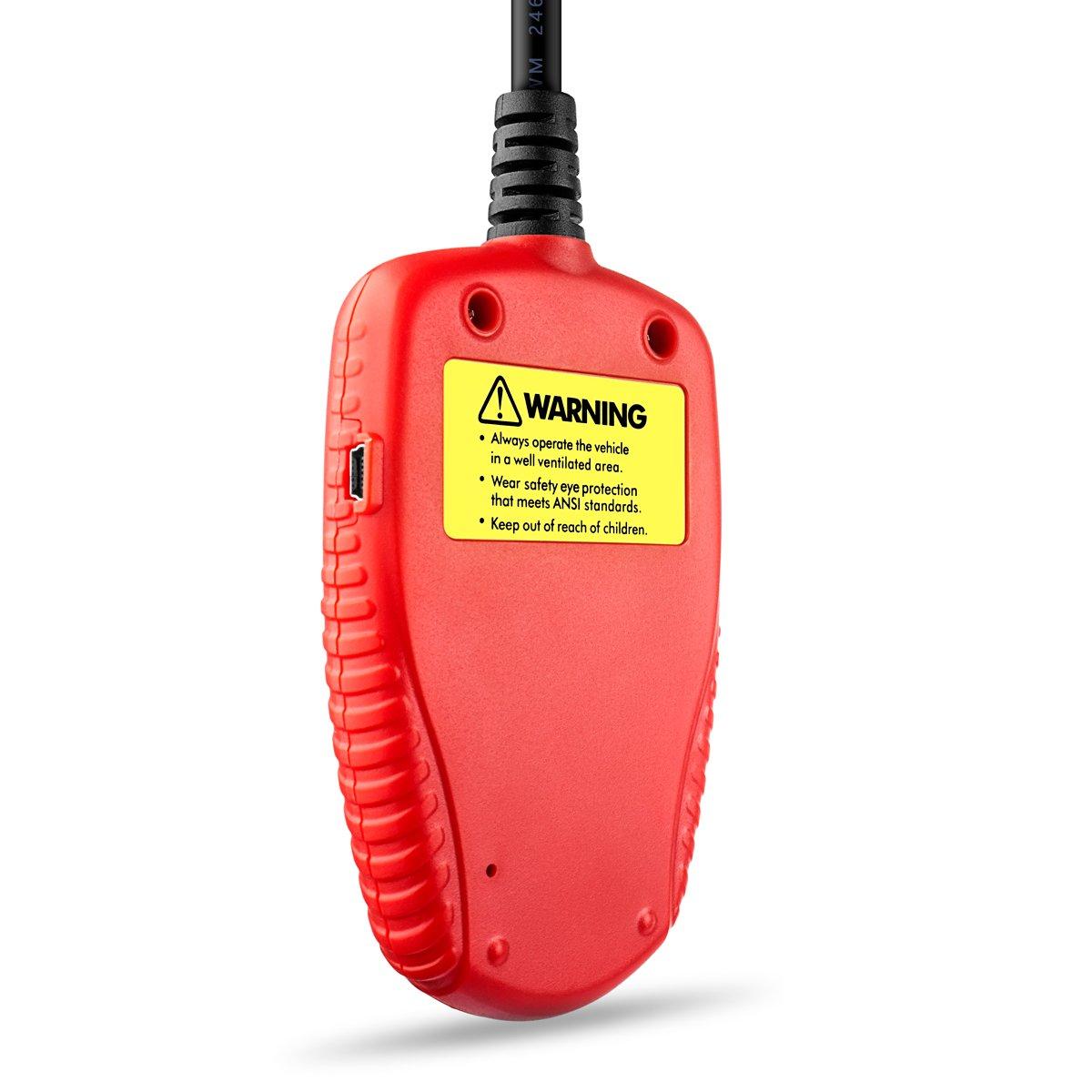 ANCEL BA101 Profesional 12V 100-2000 CCA 220AH Automotor Carga Probador de Batería Digital Analizador Malo Pila Herramienta de Prueba para ...