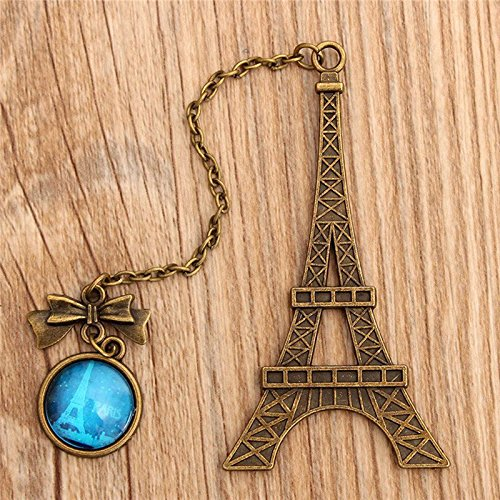 Ioffersuper Vintage Eiffel Tower Metal Bookmarks For Book Creative Item Kids Gift Stationery