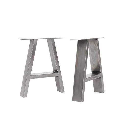 HLC] 2 x patas industriales de mesa con marco en A: acero ...