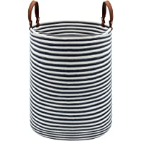 DOKEHOM X-Large Storage Baskets -15.7(D) x 19.7(H) Inches- Cotton Rope Basket Woven Baby Laundry Basket with Handle for…