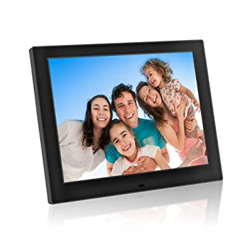 Digital Picture Frames, Jimwey 12 inch HD LCD Display Electronic Picture Frame, MP3 Photo
