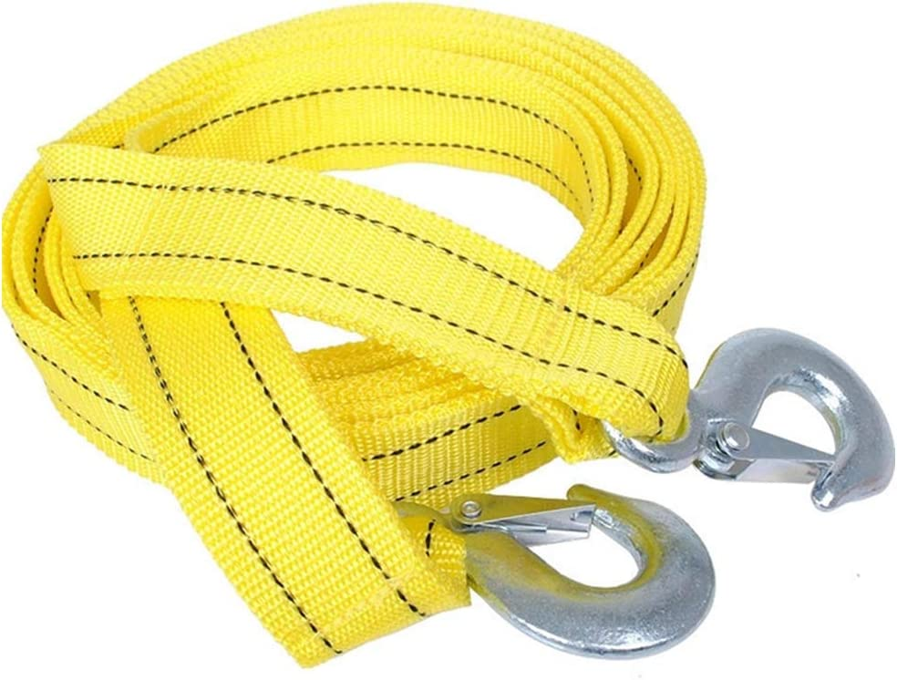 RENNICOCO Car Tow Rope Straps with Hooks 5 Tons 4 Meters 13.12ft with Vehicle Storage Bag High Strength Emergency Towing Rope Cable Cord Heavy Duty Recovery Securing Accessories for Cars Trucks
