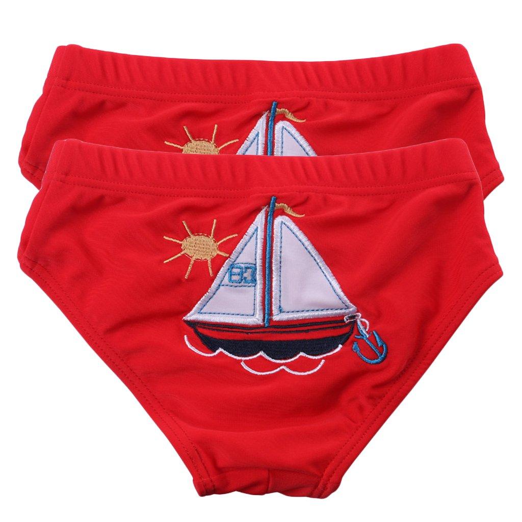 2 Sets Child Swim Trunk Briefs Swimsuit Ruffle Shorts for Boys Girls Vine Trading Co. Ltd B161117YZ07833V