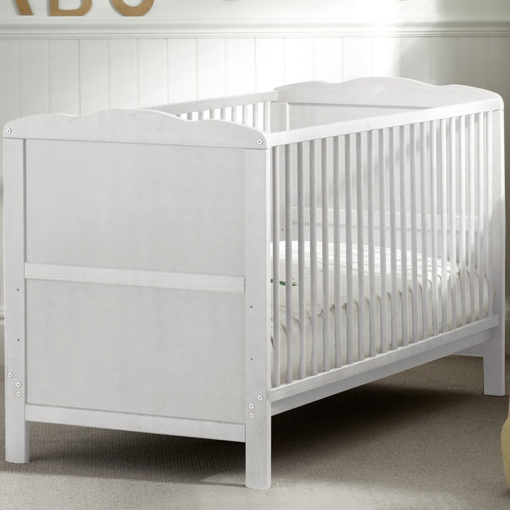 low cost 00957 1e891 B4Beds Classic White Baby COT Bed with Free Foam Mattress