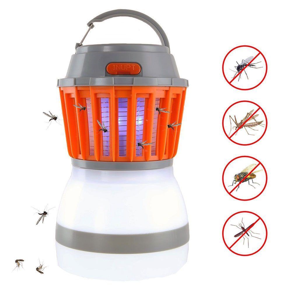 Starsprairie Bug Zapper LED Camping Lantern UV Light Portable USB Rechargeable Waterproof for Home Indoor Outdoor Traveling Camping Hiking