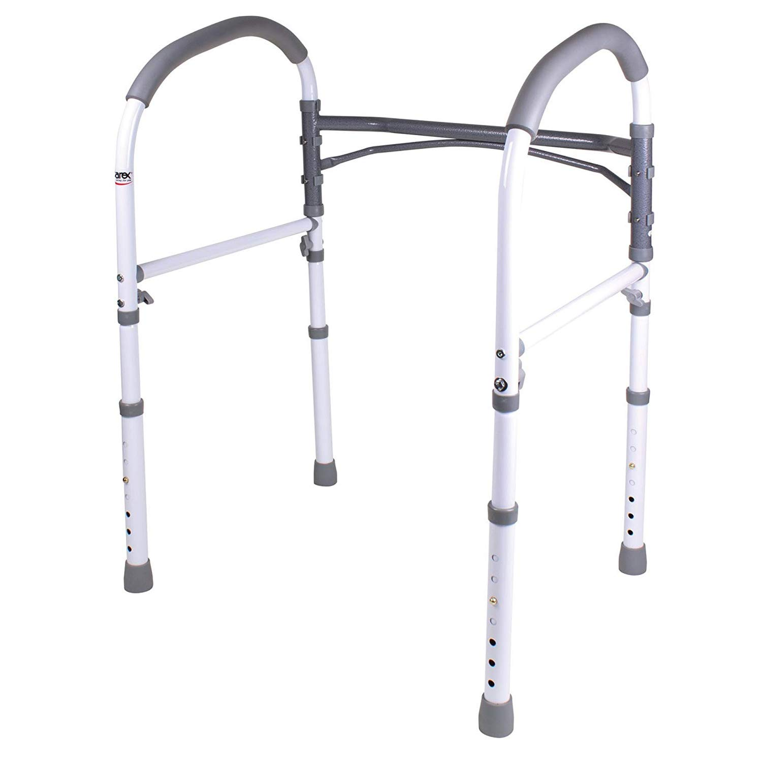 Carex Toilet Safety Rails, Toilet Handles for Elderly and Handicap, Bathroom Safety Aid and Handrail
