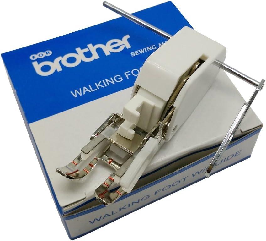 Pie prensatelas de Muzee para máquina de coser Brother 10449W-7mm for Brother blanco: Amazon.es: Hogar