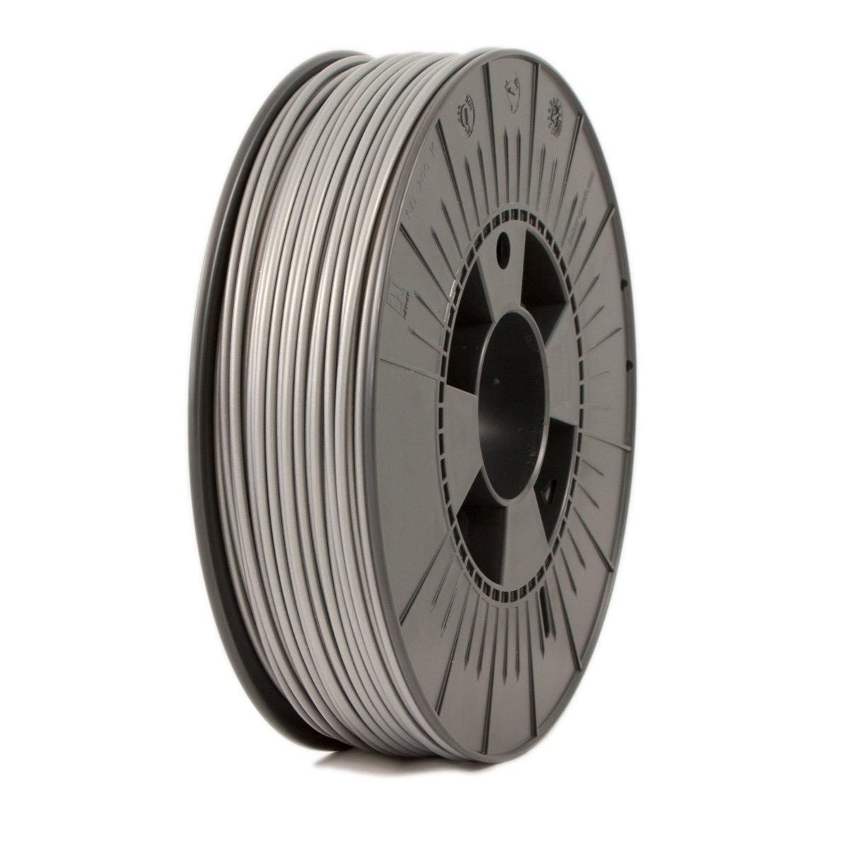 Ice Filaments ICEFIL3PLA133 Filamento PLA, 2,85 mm, 0,75 kg, Plata