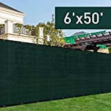 Golden Seeds Privacy Mesh Fabric Screen Fence with Grommets(6 x 50 Feet,Green,Fasteners included) Review