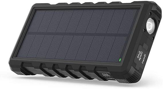 Amazon.com: RAVPower - Cargador de teléfono solar para ...