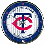 """MLB Minnesota Twins Chrome Clock, 12"""" x 12"""""""