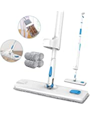 Spray Mop, JASHEN Self Wringing Microfiber Mop Flat Floor Mop Kit with 4 Reusable Pads, 360 Degree Rotation Dry and Wet Cleaning Mop for Hardwood Floor, Laminate, Wood, Tile