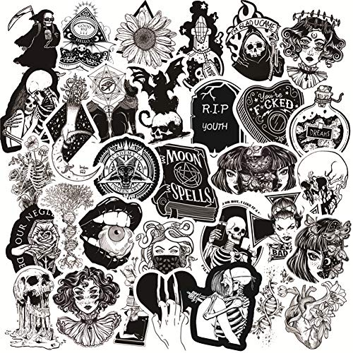 🥇 50PCS Gothic Stickers for Water Bottle
