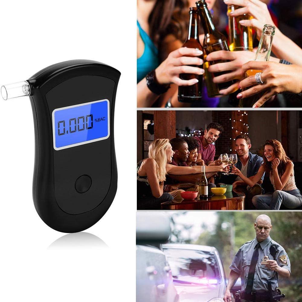 GARDOM Alkoholtester Professioneller Atemalkoholmessger/ät Akkurater Promilletester Halbleiter Sensorik Digitaler LCD Polizeigenau Alkohol Tester mit 20 Mundst/ücke