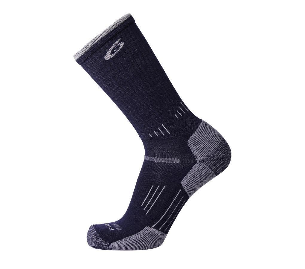 point6 Hiking Essential Medium Crew Sock - Dark Navy Small by point6
