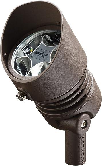 Kichler 16009AZT30 12V LED 13W 10-Degree Spot 3000K, Textured Architectural Bronze