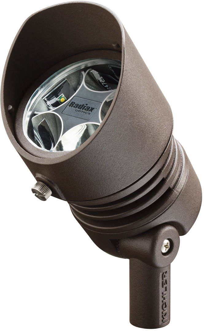 Kichler 16007AZT30 12V LED 6.5W 35-Degree Flood 3000K, Textured Architectural Bronze