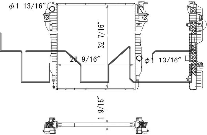 TYC 13296 Replacement Radiator