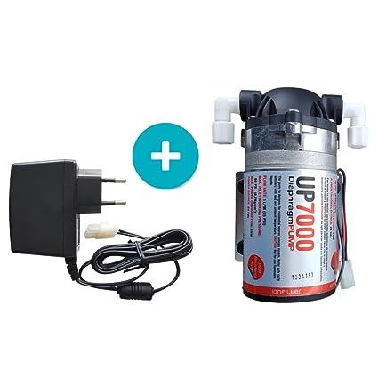 ósmosis inversa Bomba up7000 High Flow Booster Pump 75 GPD 24 V con fuente 230 V