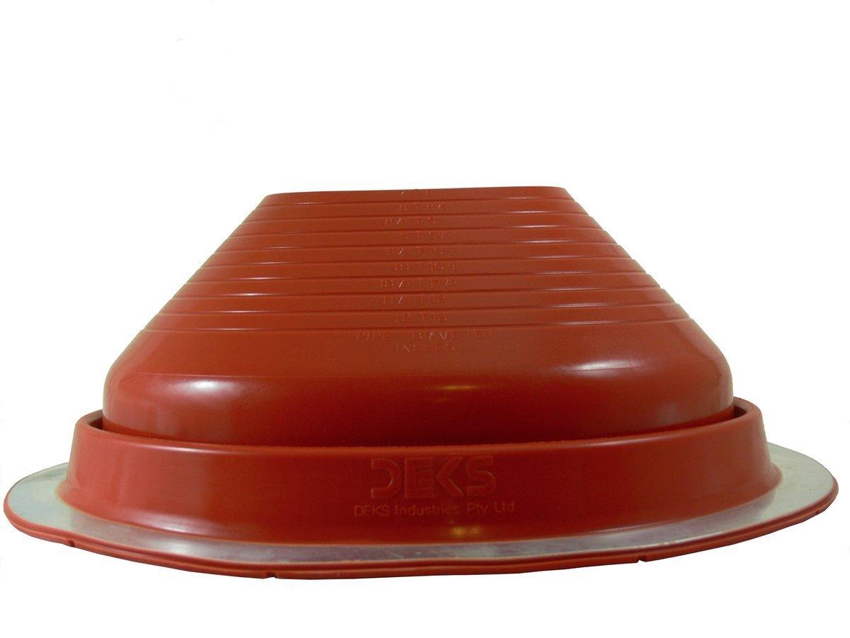 Dektite #8 Red Silicone Metal Roof Pipe Flashing Round Base Pipe OD 7 13