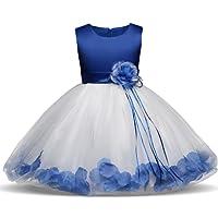 NNJXD Fille Fleur Bowknot Baptême De Demoiselle d'honneur De Mariage Robe De Fête 0-8 Ans
