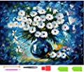 ?Full Round Drill? DIY 5D Diamond Painting by Number Kits Crystal Rhinestone Diamond Embroidery Paintings Pictures Arts Craft for Adults Or Kids- Little Daisy by Ten Tree