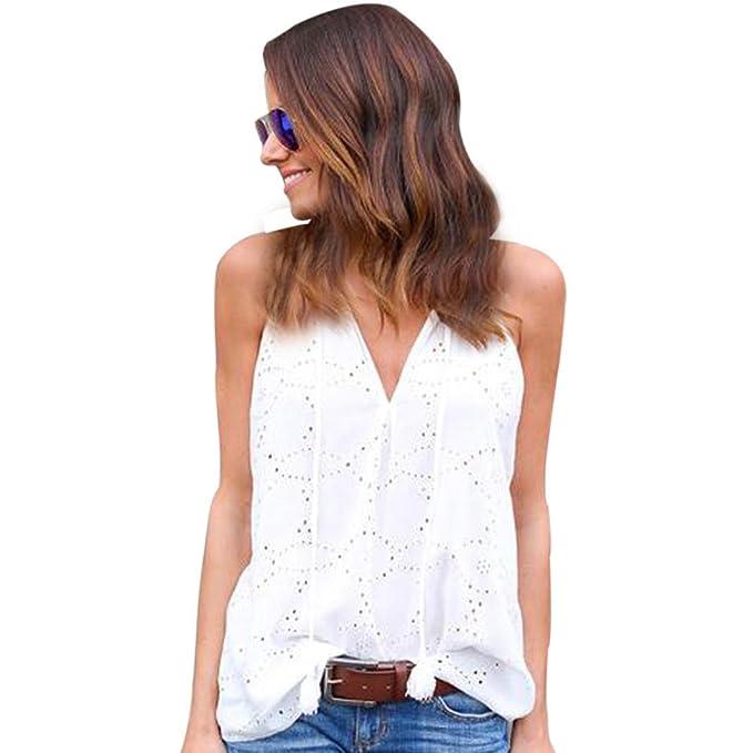 Camiseta Mujer Hombro Descubierto Blusas para Mujer Verano Tallas Grandes Blusa Casual sin Mangas 2018 ❤