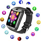 Life Like Q18 Bluetooth Unisex Smartwatch with SIM Card Slot for Samsung LG Sony HTC Huawei Google Xiaomi Android Smart Phones, Black