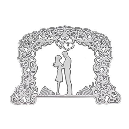 Healifty Plantillas de Troqueles de Corte de boda Novia Novio Troqueles de Corte para DIY Scrapbooking