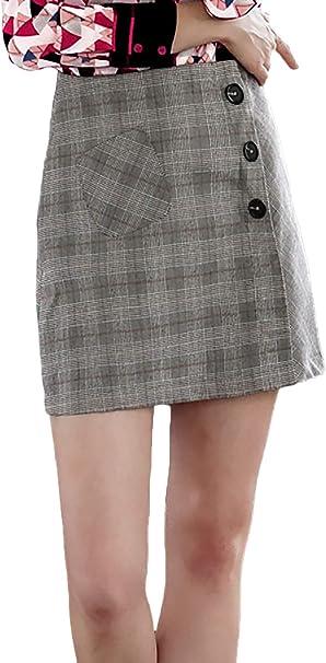 Falda Mujer Otoño Invierno A Vintage Fashion Classic Cuadros ...