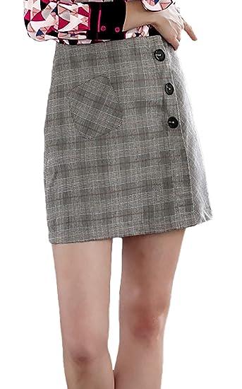 Falda Mujer Otoño Invierno Classic Fashion A Cuadros Faldas ...