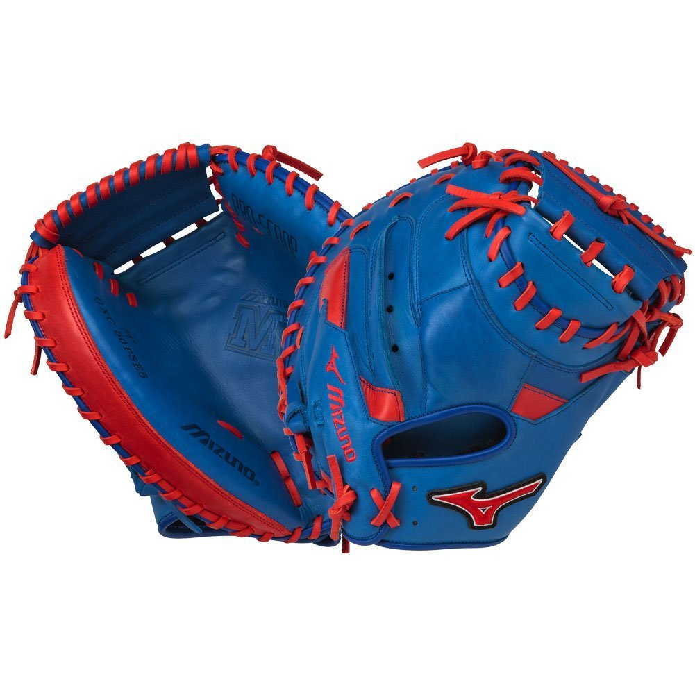 Mizuno MVP Prime Special Edition 34'' Catchers Mitt - GXC50PSE5, Royal-Red, 34 INCHES (3400) by Mizuno