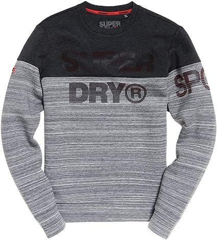 New Mens Superdry Gym Tech Cut Crew Sweatshirt Forest Camo